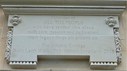 Botanic Cottage Plaque Royal Botanic Gardens Edinburgh