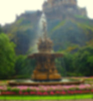Ross Fountain Princes Street gardens edinburgh