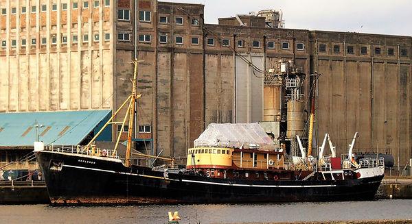 'SS Explorer' Scientific Survey Ship Shore Leith Docks Edinburgh