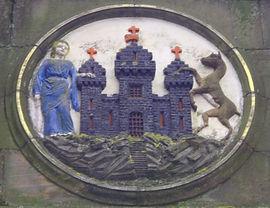 Mecat Cross City of Edinburgh Coat of Arms Medallion