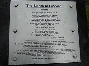 The Stones of Scotland Plaque