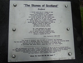 The Stones of Scotland Plaque