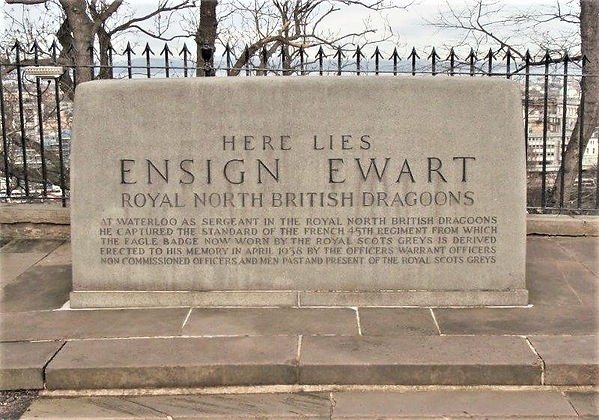 Edinburgh Castle Esplanade Ensign Ewart Memorial and Grave