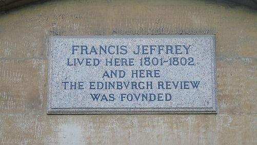 Francis Jeffrey Plaque 18 Bucleuch Place Edinburgh