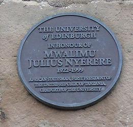 Mwalimu Julius Nyerere Presedent Tanzania University of Edinburgh Graduate