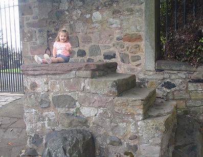 waiting for her horse to take her home from duddingston kirk edinburgh