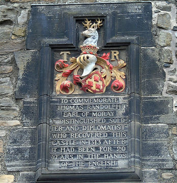 Thomas Randolph Earl of Murray Plaque Edinburgh Castle