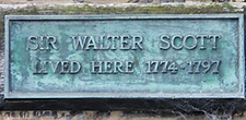 Plaque Walter Scott Lived here 23 years