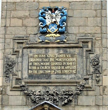 Thomas Moodie. Plaque Canongate Kirk Edinburgh