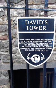 David's Tower Plaque Edinburgh Castle.JP