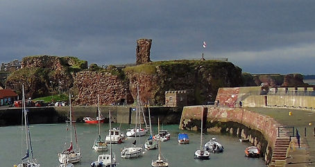 Dunbar Castle and Harbour East Lothian Scotland