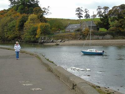 Almond River estuary at Cramond. Edinbur