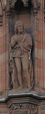 statues of King James I scottish national portrait gallery queen street edinburgh