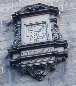 Wall Tablet of Sir Walter Scott's Birthplace
