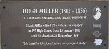 Hugh Miller Plaque High Street Royal Mil