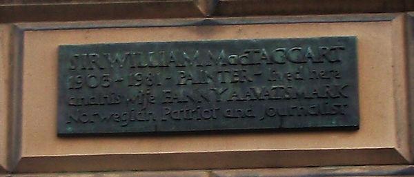Mctaggart Plaque Broughton Edinburgh
