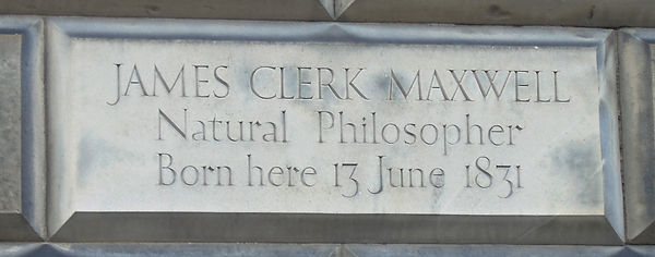 James Clerk Maxwell Birthplace Plaque Ed