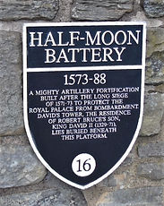 Half Moon Battery  Plaque _ Edinburgh Ca
