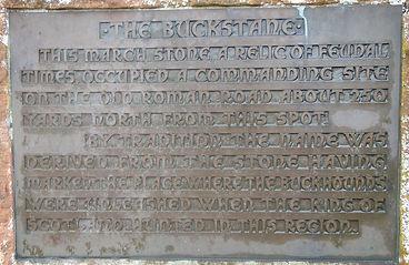 The Buck Stane Plaque Braid Road Edinburgh
