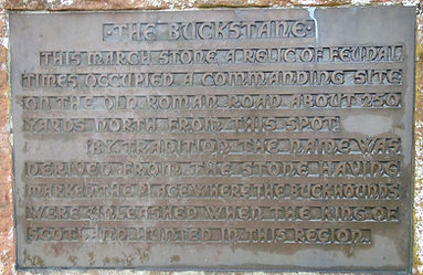 The Buck Stane Plaque Braid Road Edinburgh