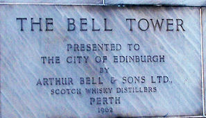 The Bell Clock Tower plaque festival square edinburgh
