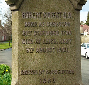 Robert Moffat Obelisk Ormiston East Loth