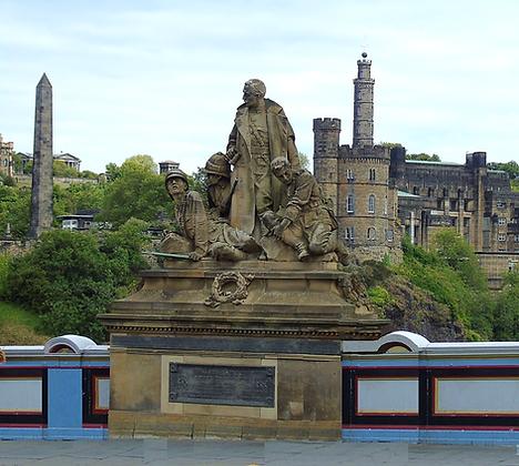 Memorial to the KOSB Regiment on North Bridge Edinburgh