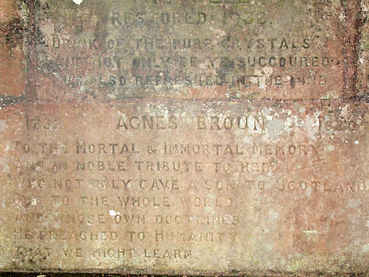 Stone from the Burns Family well at Grants House Bolton East Lothian