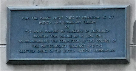 Symposium Hall Plaque Edinburgh