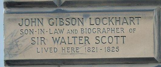 John Gibson Lockhart PlaqueNorthumberlan