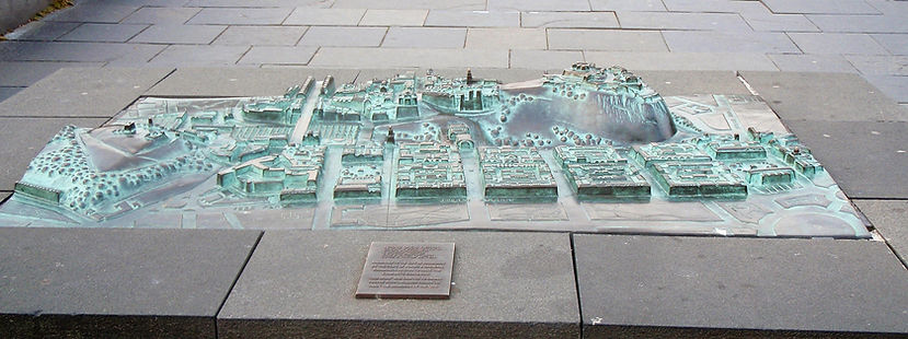 Model of Edinburgh Old Town in Princes Street Precinct Edinburgh