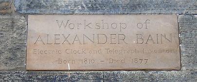 Alexander Bain Inventor Workshop Hanover Street Edinburgh