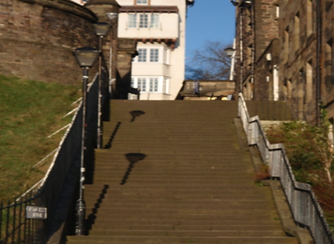 allaboutedinburgh royal mile castlehill castle wynd steps