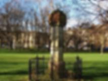 Prince Albert Sundial west Meadows Edinburgh