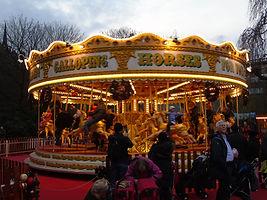 Christmas Festival edinburgh Merry-go-round