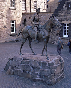 Earl Haig Staue Hospital Square Edinburgh Castle