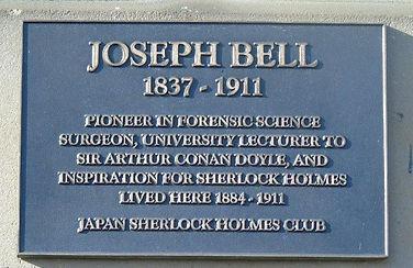 Joseph Bell Plaque. Melville Crescent Ed