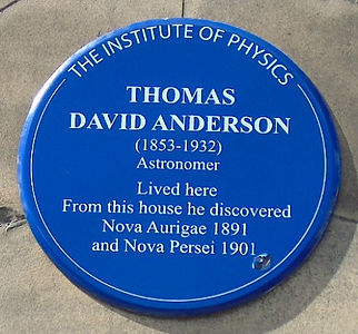 Thomas David Anderson Plaque East London Street Edinburgh