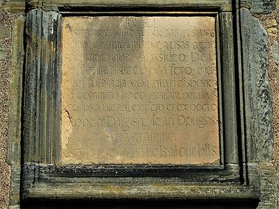 Lauriston Castle wall tablet Edinburgh
