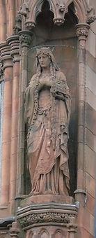 statue of St Margaret scottish national portrait gallery queen street edinburgh