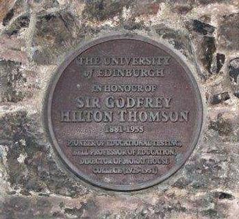 Sr Geoffrey Hilton Thomson Plaque St John's Pend Canongate Edinburgh