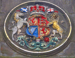 Mecat Cross Coat of Arms of Britain Medallion