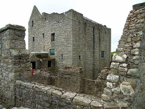 Craigmillar Castle internal buildings Edinburgh