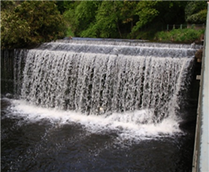 WATER OF LEITH WATERFALL