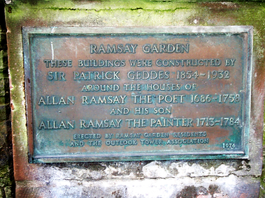 Ramsay Garden Plaque