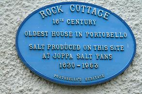 Rock Cottage Plaque Oldest House Portobello Edinburgh