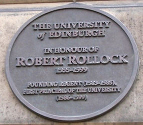 Medallion Edinburgh University Old College Robert Pollock