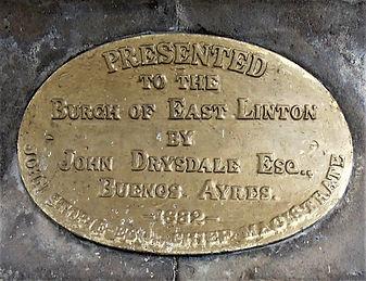 East Linton Fountain Plaque East Lothian