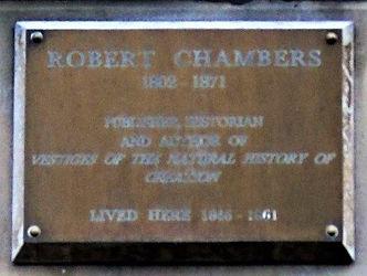 Robert Chambers plaque  Stockbridge Edin