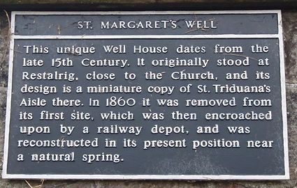 edinburgh arthur seat st margaret's well plaque